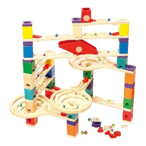 Hape Quadrilla Wooden Marble Run Construction - Best Educational Toys for 5 Year Olds: Design your own racetracks