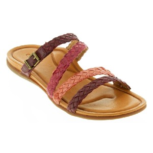 Aetrex Brielle Red Leather - Best Sandals for Arch Support: Excellent Slide Sandal