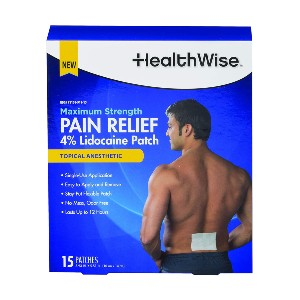 HealthWise Maximum Strength - Best Patches for Back Pain: Desensitizes Aggravated Nerves and Relieves Pain