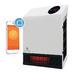 Heat Storm WiFi Infrared Wall Heater - Best Space Heater for Basement: Easy control WiFi wall heater