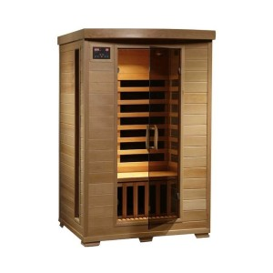 HeatWave 2-Person Sauna with Carbon Heaters - Best Two-Person Sauna: Sturdy and Gorgeous Sauna