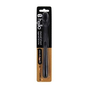 hello BPA Free Charcoal Bristle Toothbrush - Best Biodegradable Toothbrush: Expensive-looking