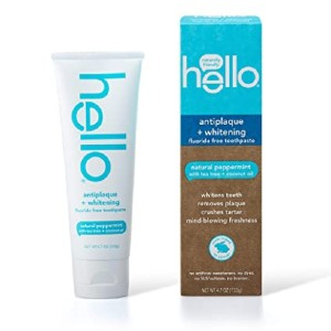 Hello Oral Care Fluoride Free Antiplaque and Whitening Toothpaste - Best Toothpaste without Fluoride: Best for budget