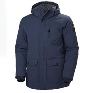 Helly Hansen Urban Waterproof Windproof Breathable Fully Insulated Long Parka Jacket - Best Raincoats for Cold Weather: Raincoat jacket with wrist gaiters