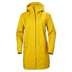 Helly Hansen Women's Moss Long Hooded - Best Raincoats with a Suit: Stand out in the showers