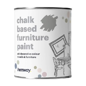 Hemway  Dove Grey Chalk Based Furniture Paint - Best Chalk Paint Colors:  Simple and Easy to Use