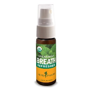 Herb Pharm Breath Refresher Certified - Best Mouth Spray for Dry Mouth: Aromatic Herbal Breath Freshener