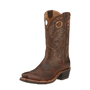 Ariat Heritage Roughstock Western Boot - Best Boots for Men: Goodyear Welt Construction