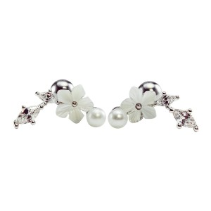 HiUnni 16g Flower Leaf Cartilage Earring - Best Jewelry for Conch Piercing: Incredibly versatile