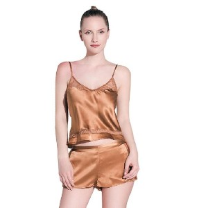 Thxsilk High end 19 Momme Simple Silk Cami & Shorts Set - Best Silk Sleepwear: Best for budget