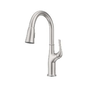 Pfister Highbury LG529-HGS - Best Pull Down Faucets: High Arc Spout for Added Clearance and Reach