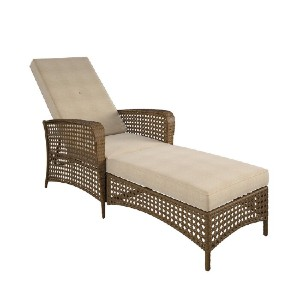 Highland Dunes Edwards Reclining Chaise Lounge with Cushion - Best Chaise Lounge Chairs: Outdoor Lounge