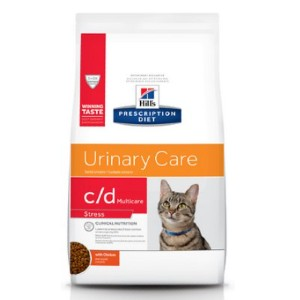 Hill's Prescription Diet c/d Multicare Urinary Care Stress with Chicken Dry Cat Food - Best Food for Cat Urinary Health: Scientifically Proven Nutrients Formulation