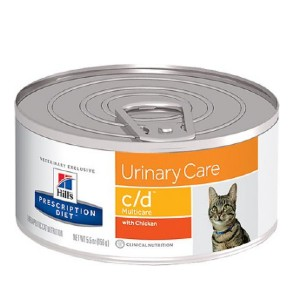 Hill's Prescription Diet c/d Multicare Urinary Care with Chicken Canned Cat Food - Best Food for Cat Urinary Health: Nutritionists and Veterinarians Formulation for Urinary Health