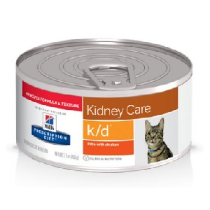 Hill's Prescription Diet k/d Kidney Care with Chicken Canned Cat Food - Best Food for Cats with Kidney Disease: Paté-Style Food