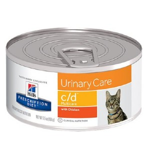 Hill's Prescription Diet c/d Multicare Urinary Care with Chicken Canned Cat Food - Best Cat Food for Indoor Cats Vet Recommended: For Urinary Tract Infections