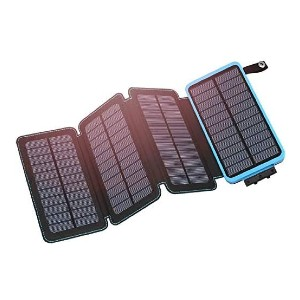 Hiluckey Solar Charger 25000mAh  - Best Portable Power Station Under $200:  Lightweight and foldable