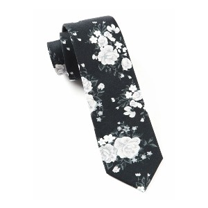 Tie Bar Hinterland Floral Black Tie - Best Ties for Light Grey Suit: Best for special occasions