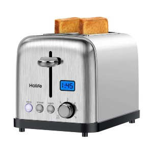 Holife Toaster 2 Slice - Best Toaster Two Slices: Automatically Pop-Up Toaster
