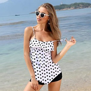 Holipick Women Tankini Swimsuits  - Best Swimsuits for Moms: Covers any unwanted flaw