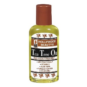 Hollywood Beauty Tea Tree Oil Skin and Scalp Treatment - Best Hair Oil for Dry Scalp: Tea Tree Oil for Soothe and Moisturize Scalp