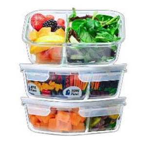 Home Planet Glass Meal Prep Containers  - Best Food Storage Container: No more melted or stained container
