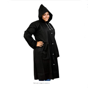 Home-X Rain Poncho with Drawstring Hood and Sleeves - Best Raincoats for Fishing: Simple Raincoat