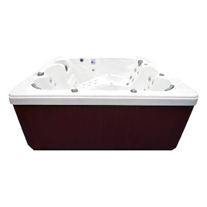 Home and Garden Spas 6 Person 71 Outdoor Spa with Mp3 Auxiliary Output & Ozone - Best Six-Person Hot Tubs: Hot Tub with Built-In Waterfall