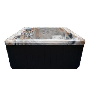 Home and Garden Spas 6 Person 51 Outdoor Spa with Stainless Jets & Ozone - Best Six-Person Hot Tubs: Hot Tub with LED Light