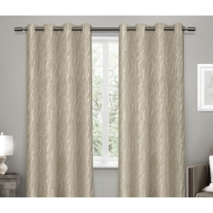 Homedepot Woven Blackout Grommet Top Curtain Panel in Natural (2 Panels) - Best Curtain to Block Light: Natural Look Curtain