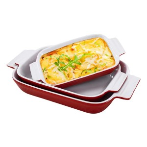 Hompiks Casserole Dishes - Best Porcelain Bakeware: Sturdy and healthy