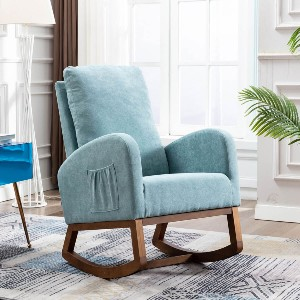 Homrest Mid Century Rocking Chair  - Best Rocking Chair for Living Room: Retro Rocking Chair