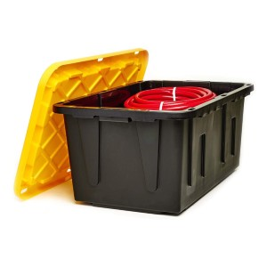 Homz Tough Durabilt Tote Box - Best Storage Containers for Garage: For heavy-duty projects