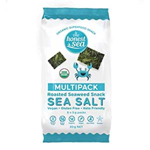 Honest Sea Roasted Seaweed - Best Healthy Snack: Crunchy, papery thin and delicious