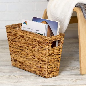 Honey Can Do 15x5 Magazine Storage Basket  - Best Magazine Storage: Natural-looking basket