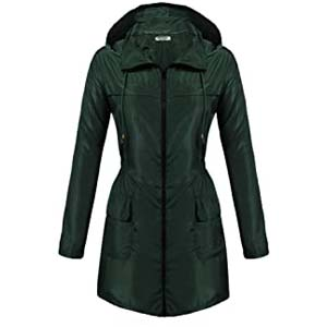 Hotouch Womens Lightweight Travel Trench Raincoat - Best Raincoats Amsterdam: Reliable, fashionable, affordable