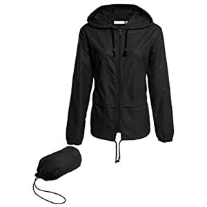 Hount Women's Lightweight Hooded Raincoat - Best Raincoats for Hiking: Lightweight with attractive color choices