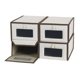Household Essentials Small Shoe Storage Boxes - Best Sneaker Storage Boxes: See-Through Front Panel