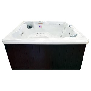Hudson Bay Spa 6 Person 34 Outdoor Spa with Stainless Jets  - Best Six-Person Hot Tubs: Hot Tub with Digital Balboa Controls