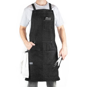Hudson Durable Goods Denim Apron for Kitchen, Grill, and BBQ - Best Aprons for Men: Lightweight Denim Apron