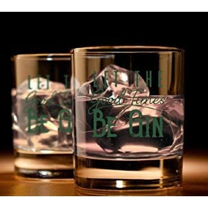 Humor Us Home Goods Let the Good Times Be Gin Glass - Best Glass for Gin and Tonic: Beautiful and Timeless Design