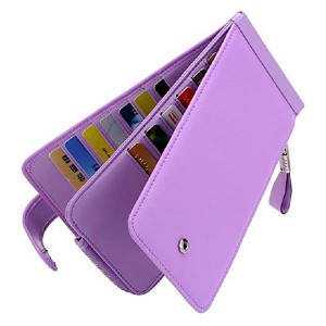 Huztencor Womens Leather Wallet - Best Wallet for Lots of Cards: Slim with gorgeous color