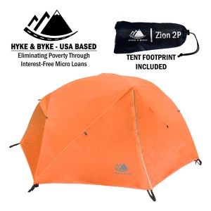 Hyke & Byke 1 Person Backpacking Tent With Footprint - Best Three-Season Tents: Ultra-Lightweight and Durable Tent