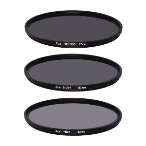 ICE Slim ND Filter Set - Best ND Filters for Portrait Photography: Double Threaded Metal Frame for Additional Filters or Hood