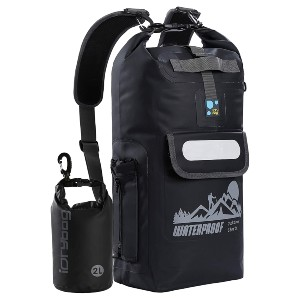 IDRYBAG Waterproof Backpack - Best Waterproof Backpack for Hiking: Zippered and Protective Pockets