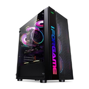 IFORGAME ATX Mid Tower Computer Case - Best PC Cases for Airflow:  Multiple Options of Radiator Mounting