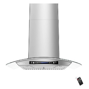 IKTCH 30-inch Wall Mount Range Hood Tempered Glass - Best Range Hood for Asian Cooking: Works tremendously with remote control
