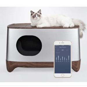 IKUDDLE SMART LITTER BOX - Best Self Cleaning Litter Box for Multiple Cats: Equipped with Health Tracking