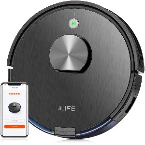 ILIFE A10 Lidar Robot Vacuum - Best Robot Vacuum Cleaner: Self-Recharges and Resumes Cleaning