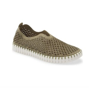 ILSE JACOBSEN Tulip 139 Perforated Slip-On Sneaker - Best Slip-On Sneakers for Walking: Slip-On Shoe with Removable Cushioned